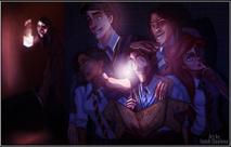 Personagens da Disney reimaginados como estudantes de Hogwarts