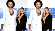 Holly Hagan e Kyle foram juntos ao White Carpet do VMA
